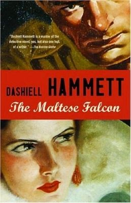 The Maltese Falcon book cover image. Click for full size.