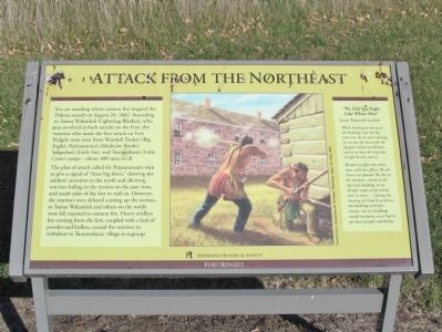 Attack from the Northeast Marker image. Click for full size.
