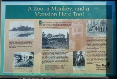 A Zoo, a Monkey, and a Mansion Here Too! Marker image. Click for full size.
