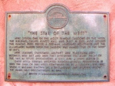 The Star of the West Marker image. Click for full size.