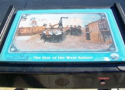 The Star of the West Saloon Marker image. Click for full size.
