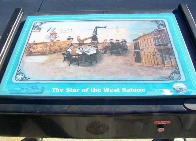 The Star of the West Saloon Marker