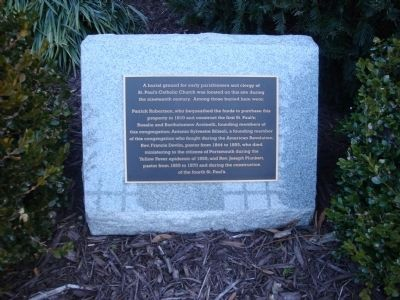St. Paul's Roman Catholic Church Burial Site plaque image. Click for full size.