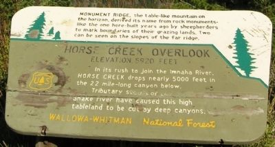 Horse Creek Overlook Marker image. Click for full size.