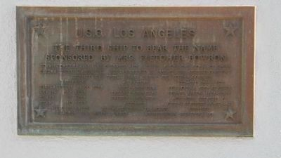 U.S.S. <i>Los Angeles</i> Marker Panel 2 image. Click for full size.
