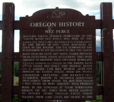 Nez Perce Marker image. Click for full size.