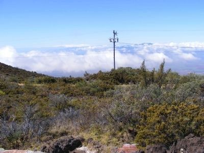 Haleakala National Park-distant photo from the HQ Visitor Center image. Click for full size.