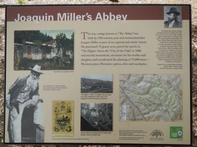 Joaquin Miller's Abbey Marker image. Click for full size.