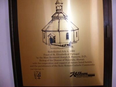Holy Ghost Catholic Church-Rededication plaque inside the church image. Click for full size.