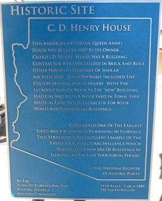 C.D. Henry House Marker image. Click for full size.