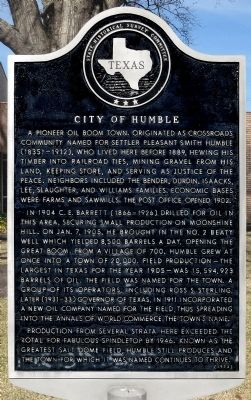 City of Humble Marker image. Click for full size.