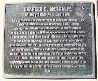 Charles B. Metcalfe Marker image. Click for full size.