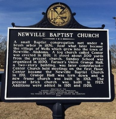 Newville Baptist Church Marker image. Click for full size.