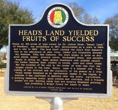 Head's Land Yielded Fruits of Success Marker image. Click for full size.