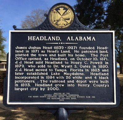 Headland, Alabama Marker image. Click for full size.