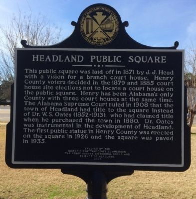 Headland Public Square Marker image. Click for full size.