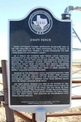 Drift Fence Marker image. Click for full size.