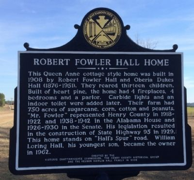 Robert Fowler Hall Home Marker image. Click for full size.