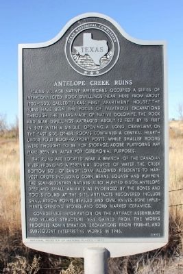 Antelope Creek Ruins Marker image. Click for full size.