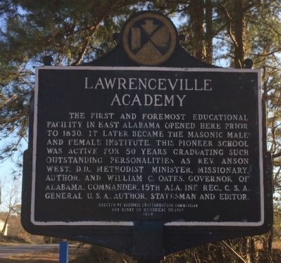 Lawrenceville Academy Marker image. Click for full size.