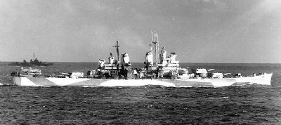 Heavy Cruiser U.S.S. <i>Canberra</i> (CA-70) image. Click for full size.