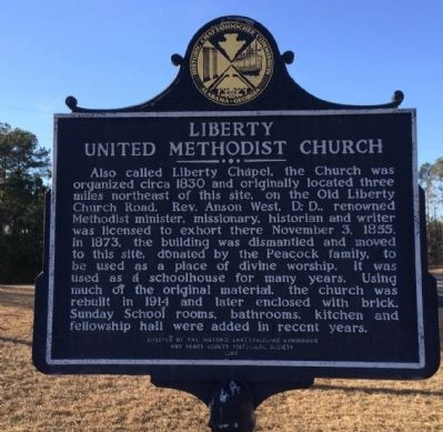 Liberty United Methodist Church Marker image. Click for full size.