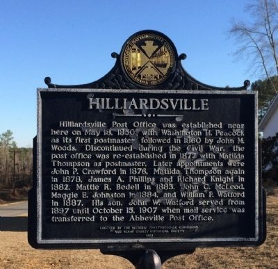 Hilliardsville Marker image. Click for full size.