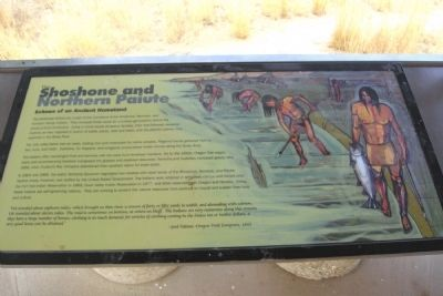 The Shoshone and Northern Paiute Marker image. Click for full size.