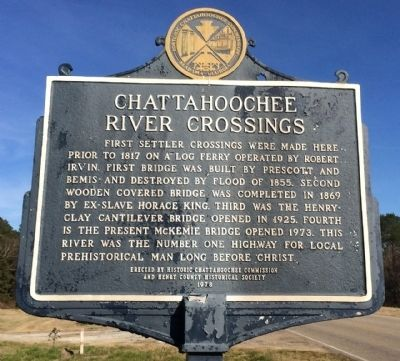 Chattahoochee River Crossing Marker image. Click for full size.