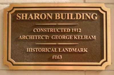 Sharon Building Marker image. Click for full size.