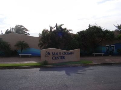 Maui Ocean Center-entrance sign image. Click for full size.