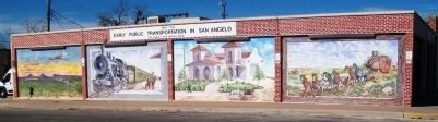 Early Public Transportation in San Angelo Mural image. Click for full size.