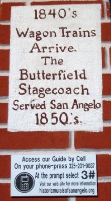 Early Public Transportation in San Angelo Marker 3 image. Click for full size.