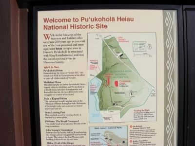 Welcome to Pu'ukohola Heiau National Historic Site image. Click for full size.