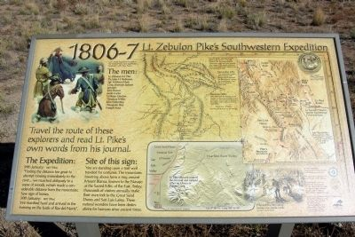 Lt. Zebulon Pike's Southwestern Expedition Marker image. Click for full size.