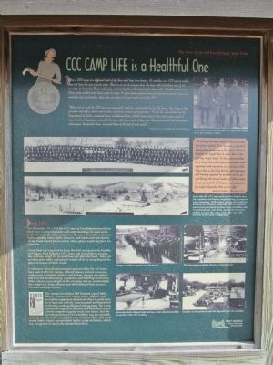 CCC Camp Life is a Healthful One Marker image. Click for full size.