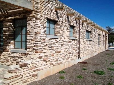Municipal Swimming Pool House Stonework image. Click for full size.