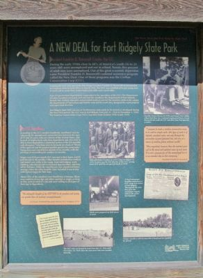 A New Deal for Fort Ridgely State Park Marker image. Click for full size.