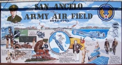 San Angelo Army Air Field Mural image. Click for full size.