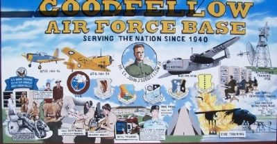 Goodfellow Air Force Base Mural image. Click for full size.