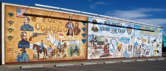 San Angelo Military Mural image. Click for full size.