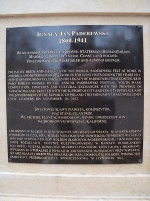 Ignacy Jan Paderewski Marker image. Click for full size.