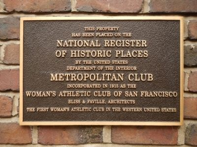 Metropolitan Club Marker image. Click for full size.
