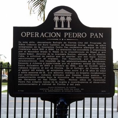 Operación Pedro Pan Marker image. Click for full size.