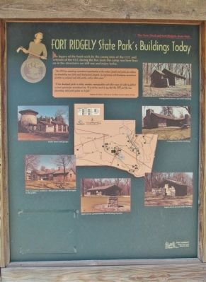 Fort Ridgely State Park's Buildings Today Marker image. Click for full size.