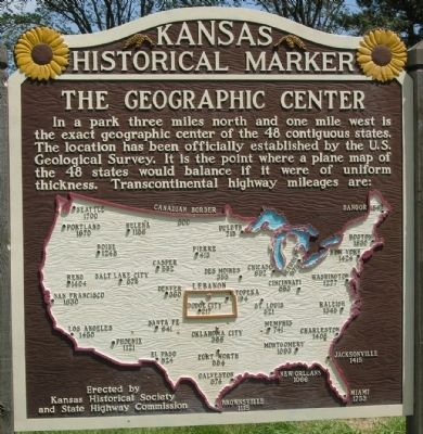 The Geographic Center Marker image. Click for full size.