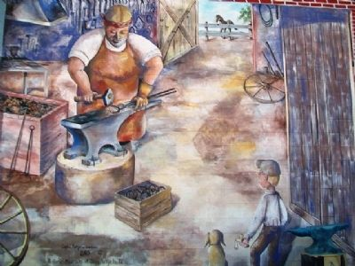 Blacksmith Mural image. Click for full size.