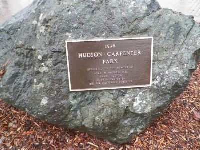 Hudson Carpenter Park Marker image. Click for full size.