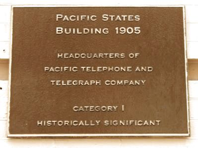 Pacific States Building Marker image. Click for full size.