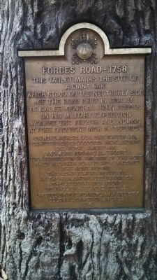 Forbes Road, 1758 Marker image. Click for full size.